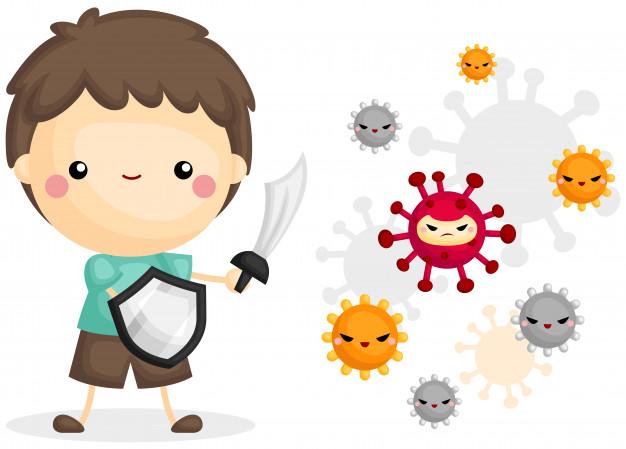 Hệ miễn dịch tự thân bao gồm: rào cản vật lý, cơ chế phòng vệ và phản hồi miễn dịch chung