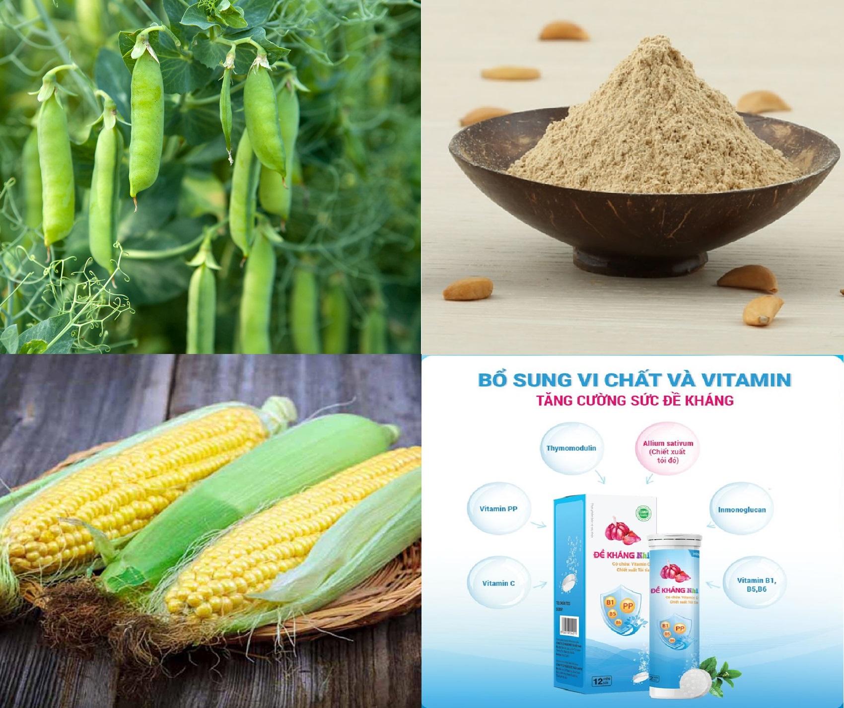 Đậu Hà Lan, Ngô, Bột uống đa năng và thức uống dinh dưỡng vô cùng tốt cho sức khỏe của trẻ