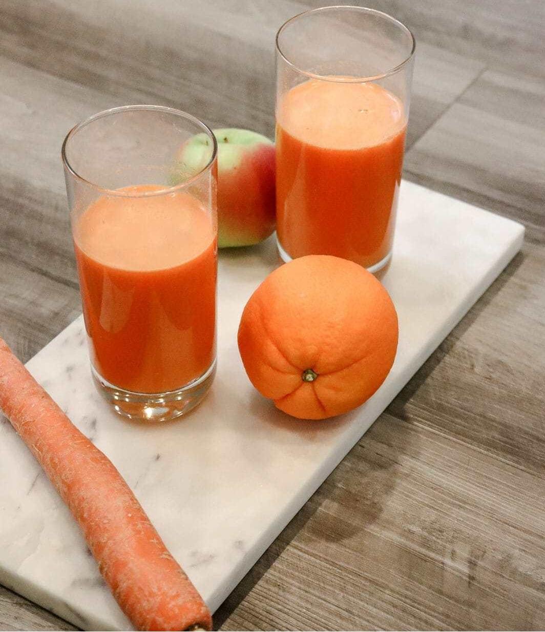 Nước ép Táo xanh, cà rốt và cam
